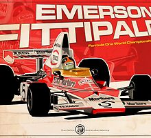 Emerson Fittipaldi – F1 1974 by Evan DeCiren