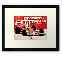 Emerson Fittipaldi – F1 1974 Framed Print