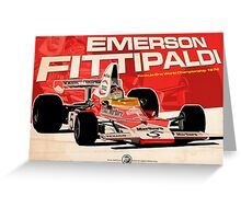 Emerson Fittipaldi – F1 1974 Greeting Card
