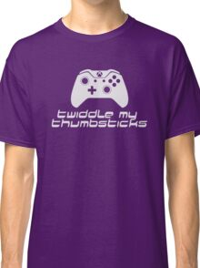 Twiddle My Thumbsticks (White) Classic T-Shirt