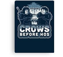 Crows before Hos Canvas Print