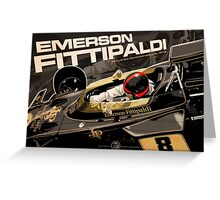 Emerson Fittipaldi - F1 1972 Greeting Card