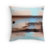 look margaret, pink and blue Throw Pillow