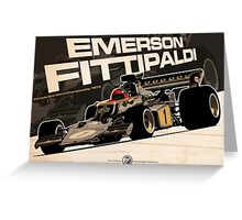 Emerson Fittipaldi - F1 1973 Greeting Card