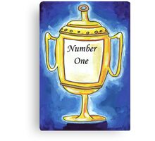 Trophy - Number One... Canvas Print