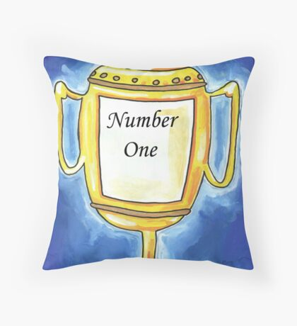 Trophy - Number One... Throw Pillow