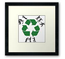 Zombie Recycling Framed Print