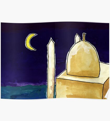 Mosque Night Poster