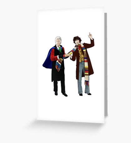 3rd and 4th Doctors Greeting Card