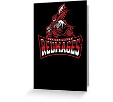 Fantasy League Redmages Greeting Card