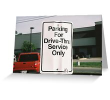 funny signs Greeting Card