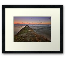 Bar Beach at Dusk 3 Framed Print
