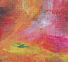 """Dreamscape No.3"" original abstract artwork by Laura Tozer Sticker"