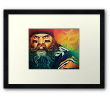 """Fear Da Beard"" Framed Print"