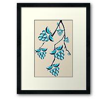 Blue Berries Branch Framed Print