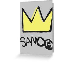 Basquiat SAMO Crown Greeting Card