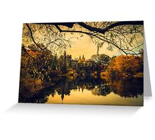 Autumn Reflections at Belvedere Castle Greeting Card