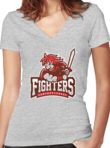 Fantasy League Fighters Women's Fitted V-Neck T-Shirt