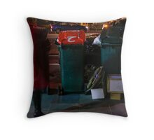 Red Ghost Faster Throw Pillow
