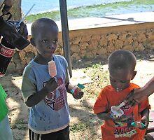 MALAGASY CHILDREN ENOYING TREATS NOSY KOMBA by JAYMILO