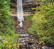 Munising Falls at Pictured Rocks by Kenneth Keifer