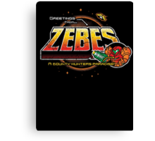 Greetings from Zebes! Canvas Print