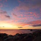 Grants Point sunrise - Binalong Bay by gaylene