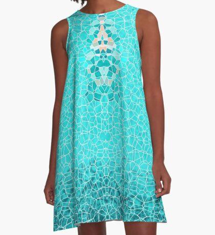 AQUA, TEALE, BLUE, OCEAN COLOURS, WATER A-Line Dress