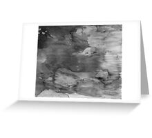Black Watercolor Ombre Greeting Card