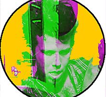 Tom Waits in a circular shape by PolarVeal