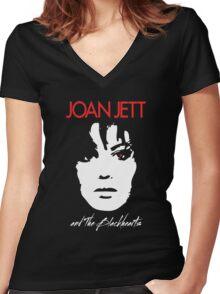 Joan Jett & The Blackhearts Women's Fitted V-Neck T-Shirt