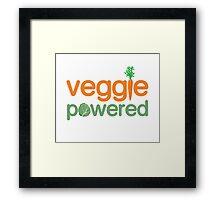 Veggie Vegetable Powered Vegetarian Framed Print