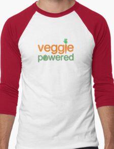 Veggie Vegetable Powered Vegetarian Men's Baseball ¾ T-Shirt