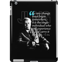 A Quote from Carl Gustav Jung Quote #32 of 50 available iPad Case/Skin