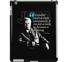 A Quote from Carl Gustav Jung Quote #37 of 50 available iPad Case/Skin