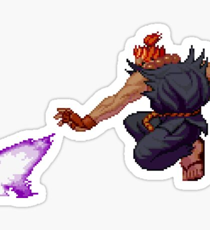 Street Fighter - Akuma Fireball Sticker