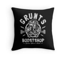Grunts Boost Shop Throw Pillow