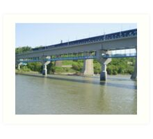 bridge across the riverside Art Print