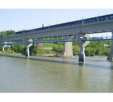 bridge across the riverside Photographic Print