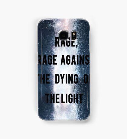 Rage, Rage Against The Dying Of The Light - Interstellar Samsung Galaxy Case/Skin