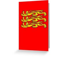 Royal Banner of England, Three Lions, 3 Lions, English, British, Britain, UK, RED Greeting Card
