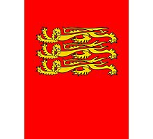 Royal Banner of England, Three Lions, 3 Lions, English, British, Britain, UK, RED Photographic Print