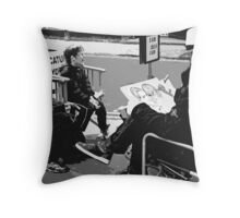 The Cartoonist Throw Pillow
