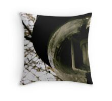 A day of what's behind her... Throw Pillow