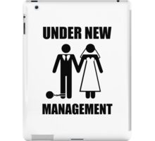 Just Married, Under New Management iPad Case/Skin