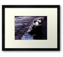 The street where she collapsed and dreamt Framed Print