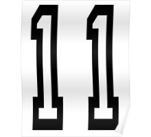 TEAM SPORTS NUMBER, 11, Eleven, Eleventh, Competition Poster