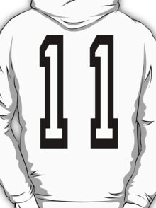 TEAM SPORTS NUMBER, 11, Eleven, Eleventh, Competition T-Shirt