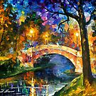 Stone Bridge — Buy Now Link - www.etsy.com/listing/210050335 by Leonid  Afremov