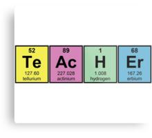 Science Teacher Chemical Elements Metal Print